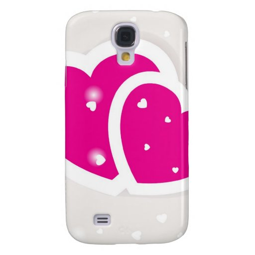 Valentines cards with two hearts samsung galaxy s4 case