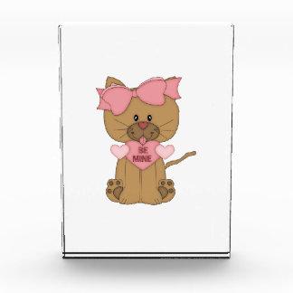 Valentines Cat Be Mine Acrylic Award