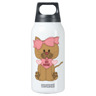 Valentines Cat Be Mine Heart Thermos Bottle