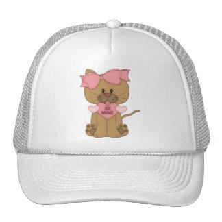 Valentines Cat Be Mine Mesh Hat