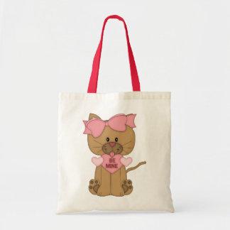 Valentines Cat Be Mine Tote Bag