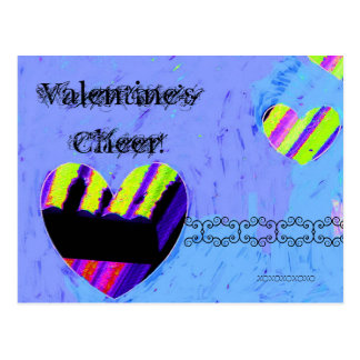 Valentine's Cheer Mixed Media Postcard