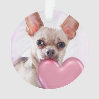 Valentine's Chihuahua dog acrilyc ornament
