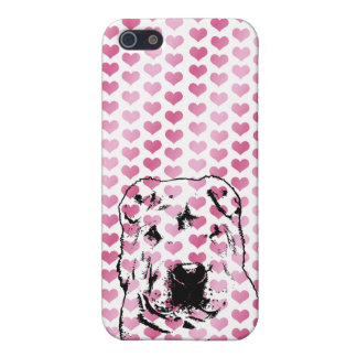 Valentines - Chinese Shar Pei Silhouette - Lucky Cover For iPhone SE/5/5s