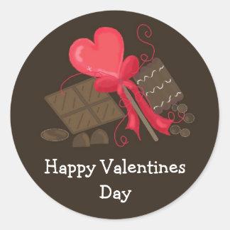 Valentines Chocolate Treats Stickers