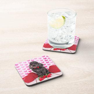 Valentines - Cockapoo - Charlie Wayne Beverage Coaster