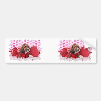 Valentines - Cockapoo - Riley Bumper Sticker