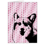 Valentines - Corgi Silhouette - Owen Greeting Card