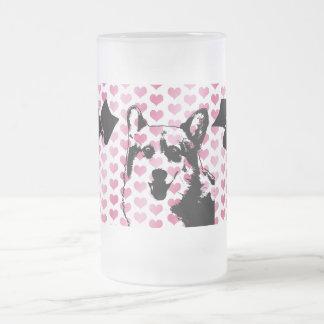 Valentines - Corgi Silhouette - Owen Coffee Mugs