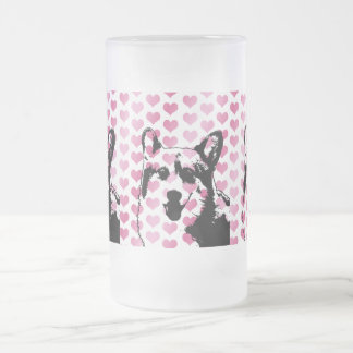 Valentines - Corgi Silhouette - Owen Beer Mug