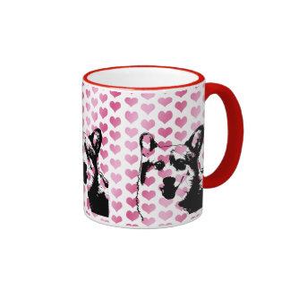Valentines - Corgi Silhouette - Owen Coffee Mug