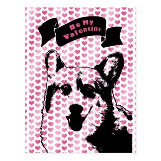 Valentines - Corgi Silhouette - Owen Postcard