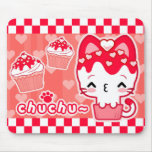 Valentine's Cupcake Kitty Mousepad