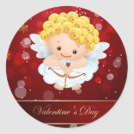 Valentines Cute Cupid Stickers