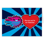 Hand shaped Valentine's Cute Puffer Fish Love card
