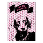 Valentines - Dachshund Silhouette - Winston Card