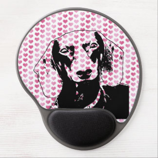 Valentines - Dachshund Silhouette - Winston Gel Mouse Pad