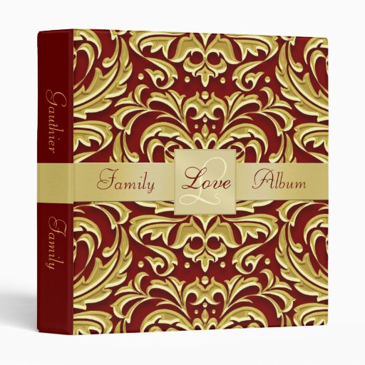 Valentines Damask Photo Book Scrapbook Binder