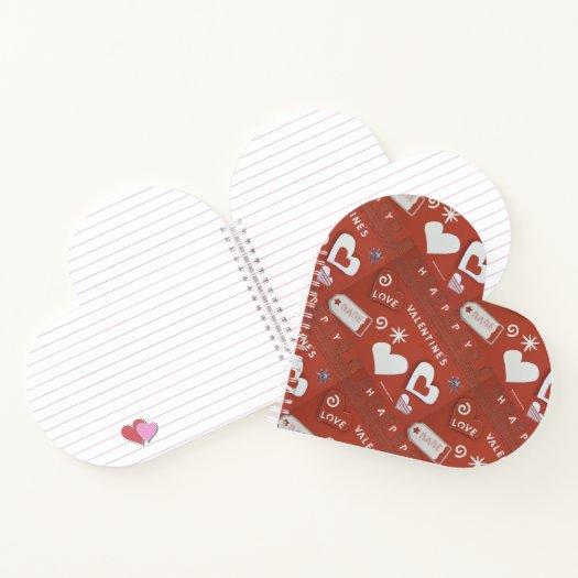 Valentine's Day 1 (Heart-Shaped) Spiral Notebook
