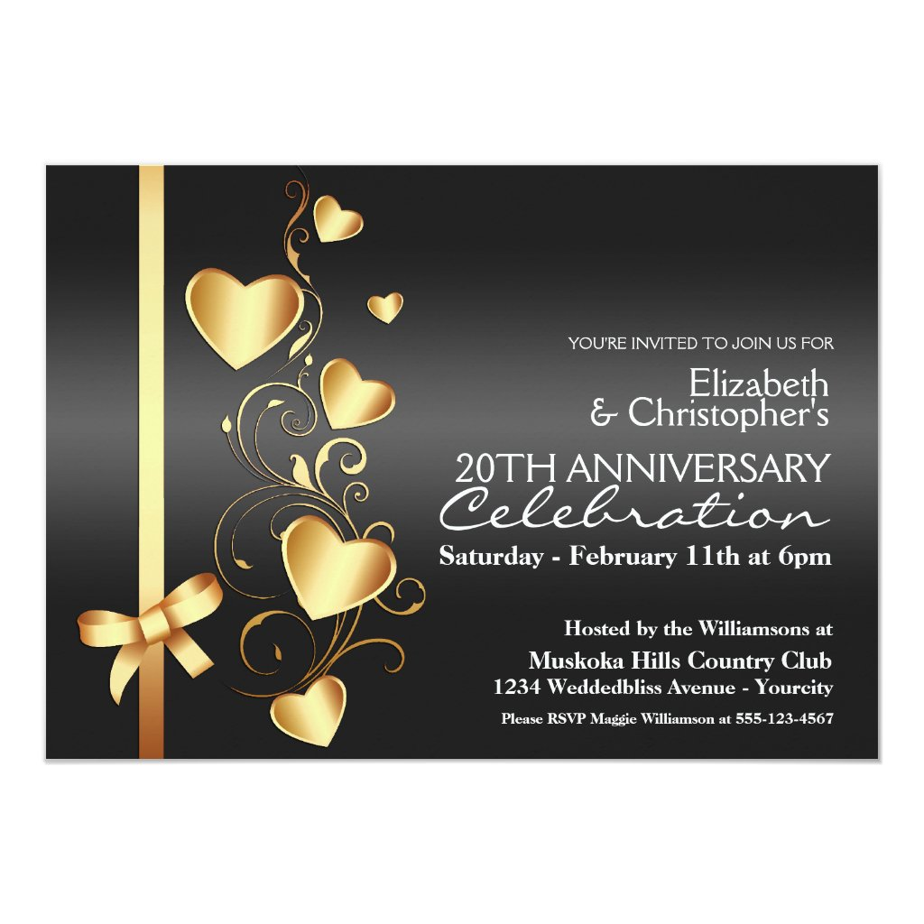Valentines Day Anniversary Party Invitation