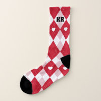 Valentine's Day Argyle Socks