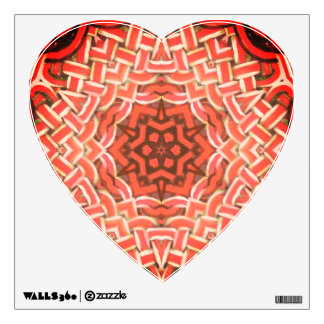 Valentines day art wall decal