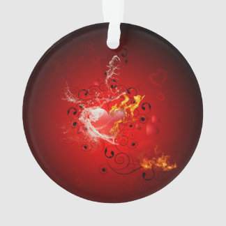 Valentine's day, awesome heart with water splash ornament