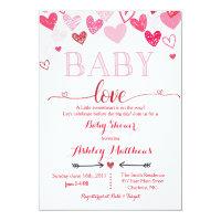 Valentines Day Baby Shower Invitation