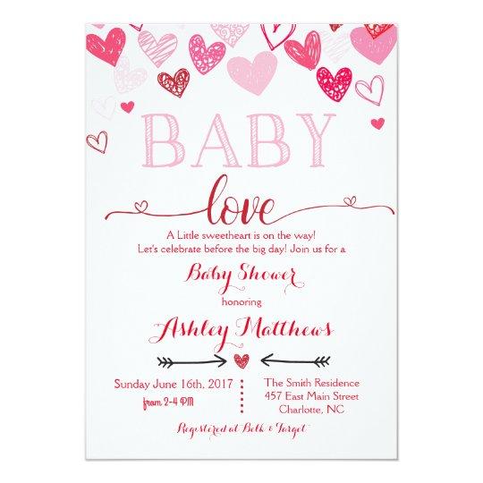 Valentines Day Baby Shower Invitation Zazzle Com
