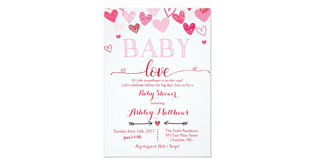 Valentines Day Baby Shower Invitation   Zazzle.com