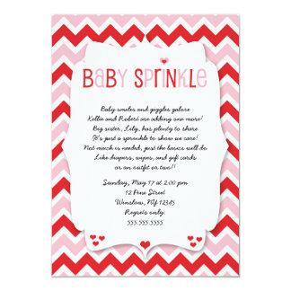 Valentine's Day Baby Sprinkle / baby shower invite