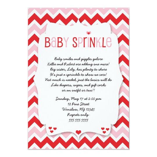 Valentine S Day Baby Sprinkle Baby Shower Invite Zazzle Com