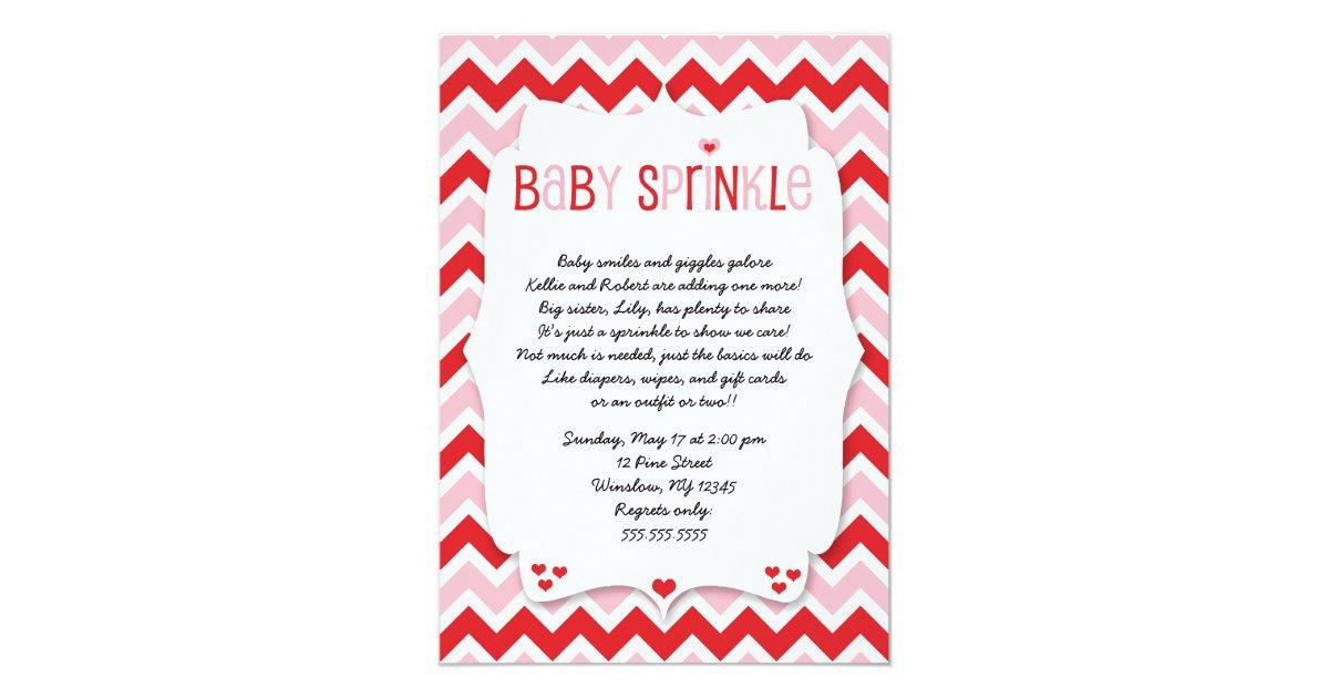 Valentines day baby sprinkle baby shower invite zazzle stopboris Gallery