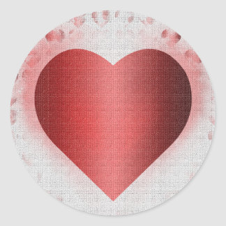 Valentine's Day Background for a Card Classic Round Sticker