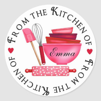 Valentines Day Baking Supplies Stickers