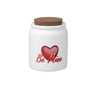 Valentine's Day Be Mine Heart Candy Jars