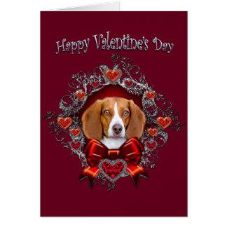 Valentine's Day Beagle Greeting Card
