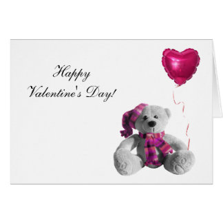 Valentine's Day Bear Heart Greeting Cards