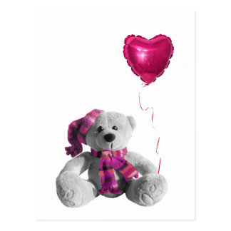 Valentine's Day Bear Heart Postcards
