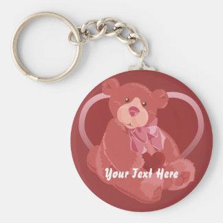 Valentine's Day Bear Keychain
