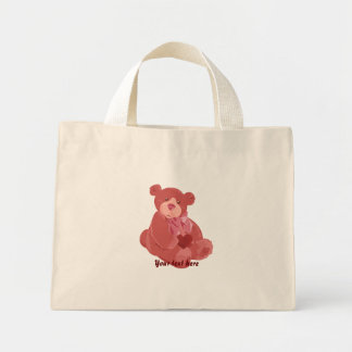 Valentine's Day Bear Mini Tote Bag