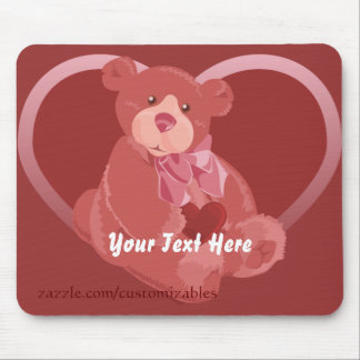 Valentine's Day Bear Mouse Pad