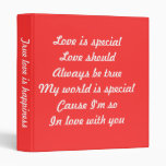 Valentine's day binders-love is special