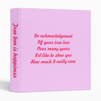 Valentine's day binders-someone special 3 ring binder