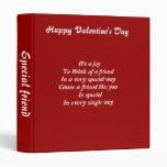 Valentine's day binders-special friend