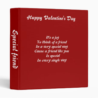 Valentine's day binders-special friend binder