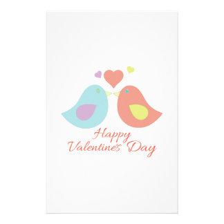 Valentines Day Birds Stationery Design