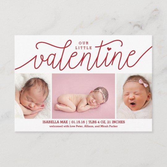 valentine u0026 39 s day birth announcement with photos
