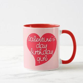 Valentine's Day Birthday Girl Tees and Gifts Mug