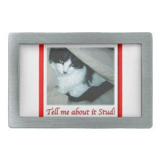 Valentine's Day Black and White Cat Belt Buckle